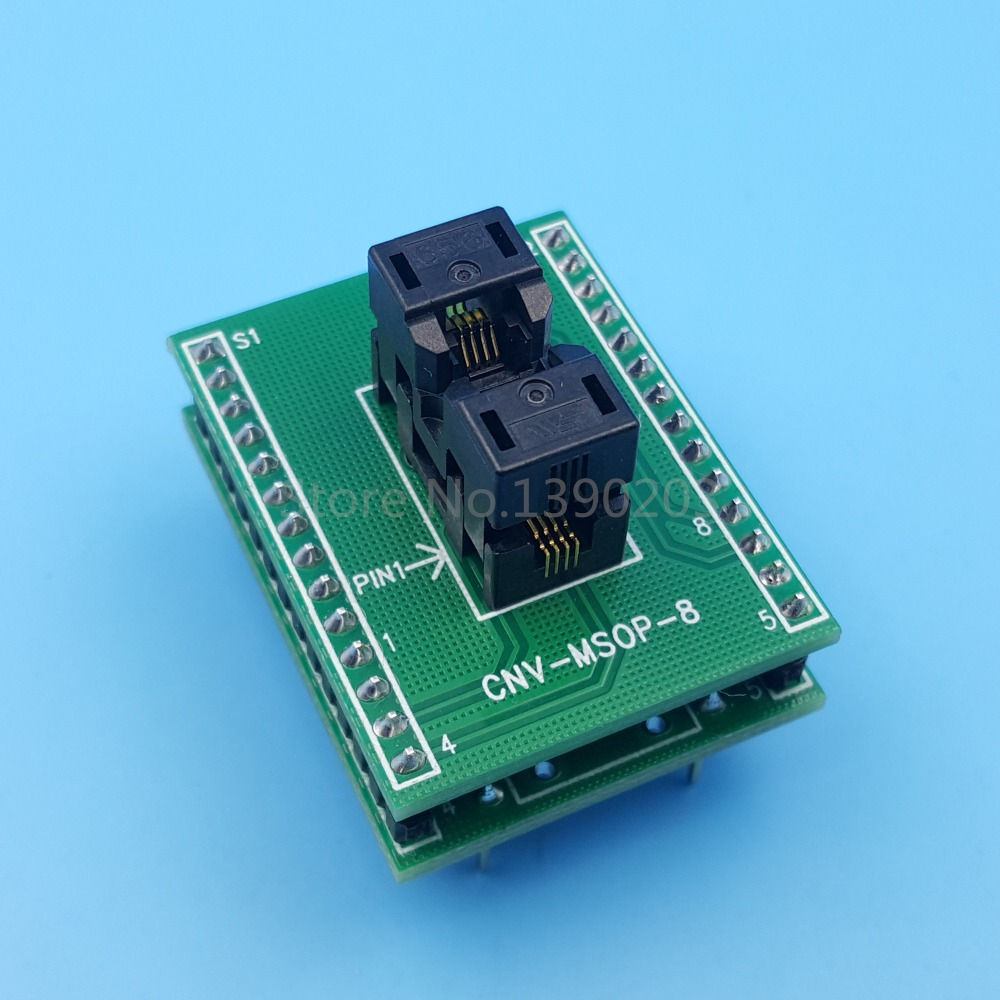 MSOP8 SSOP8 To DIP8 Pitch 0.65mm IC Programming Adapter Test Socket ne602an ne602 dip8