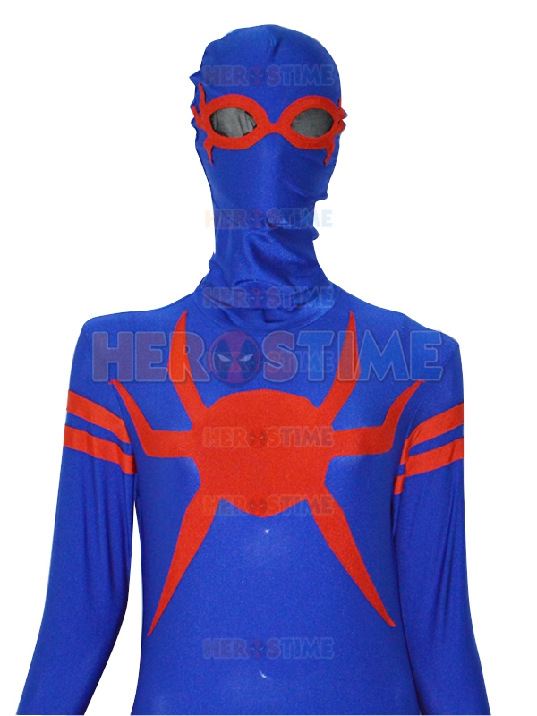 Special Royal Blue & Red Spandex Spider-man Superhero Costume Custom Made Fullbody Male/Female/Kids Spiderman Costume