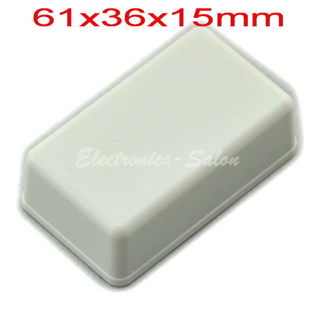Small Desk-top Plastic Enclosure Box Case,White, 61x36x15mm,  HIGH QUALITY.
