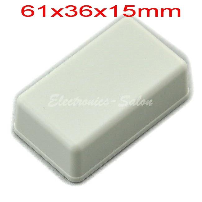 Small Desk-top Plastic Enclosure Box Case,White, 61x36x15mm,  HIGH QUALITY.