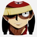 New Arrive Cartoon Characters 3D Sweatshirt Women Men Long Sleeve Outerwear One Piece Monkey D Luffy Crewneck Pullovers Hoodies