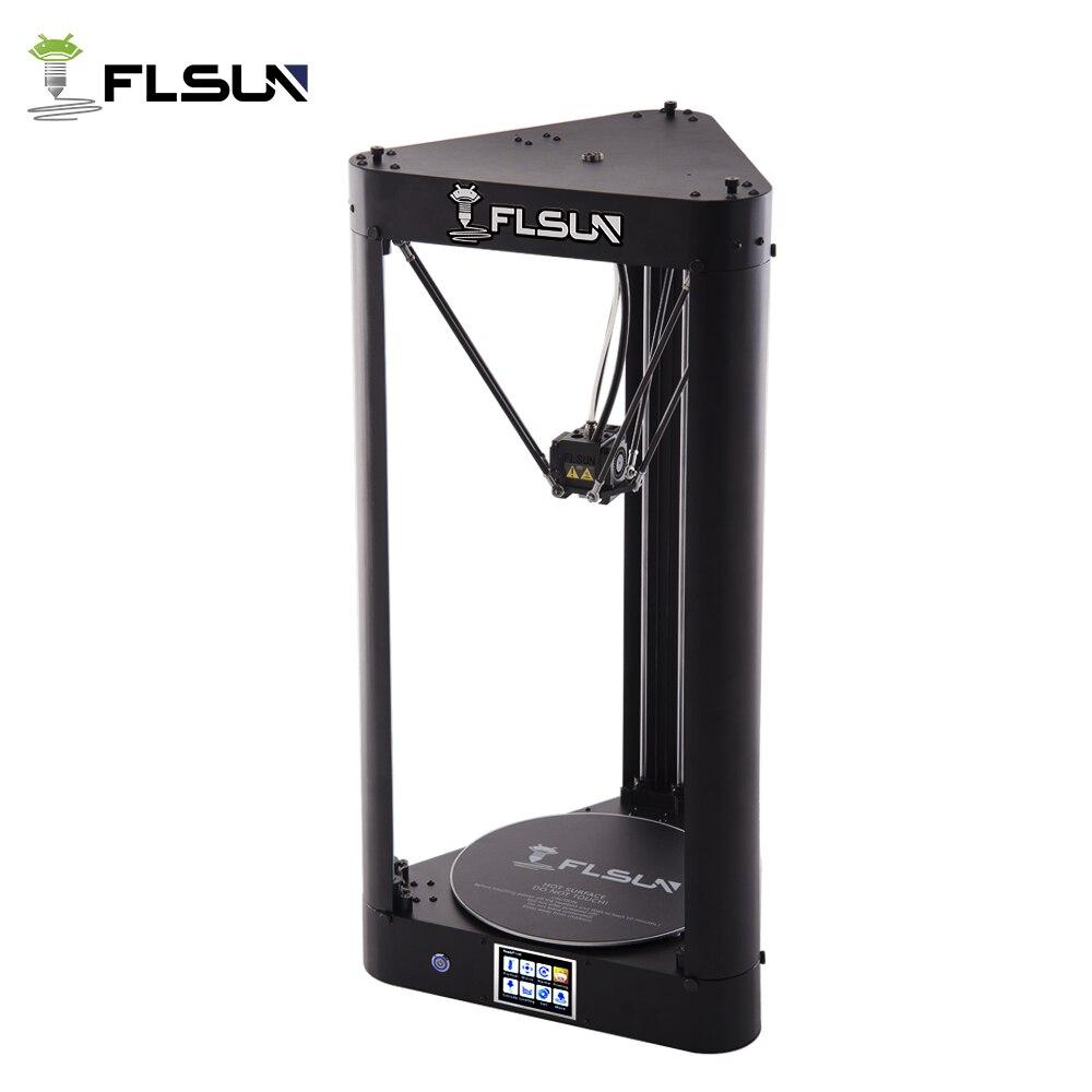FLSUN-QQ 3D-принтеры широкоформатной печати Размеры предварительная сборка высокое Скорость металлический каркас Delta 3D-принтеры Wi-Fi Управление ...