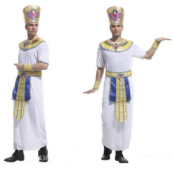Egypt prince princess royal king queen luxury golden men women costume halloween cosplay Masquerade theme party adult girl boy