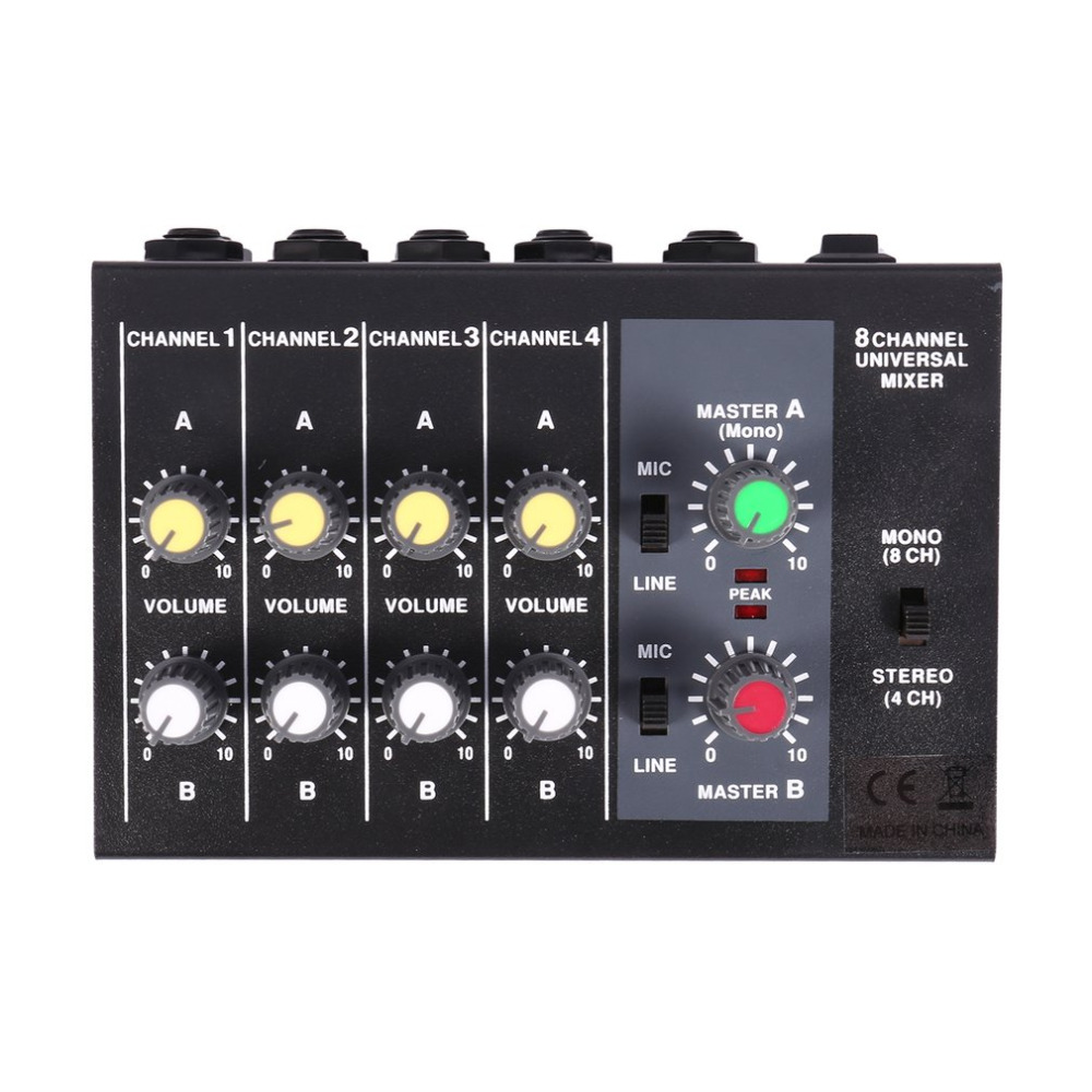 8 channel digital mixing console karaoke universal mixer console mono stereo microphone mixer. Black Bedroom Furniture Sets. Home Design Ideas