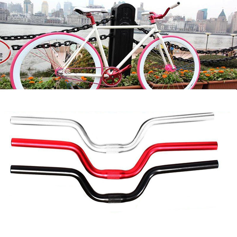 25.4x520mm Aluminum alloy Bicycle Handlebar Durable Riser Bar Swallow-Shaped MTB Bicycle Road Bike Mountain Handlebar 25 4 aluminum alloy bike bicycle goat horn track drop bar handlebar for fixed gear silver