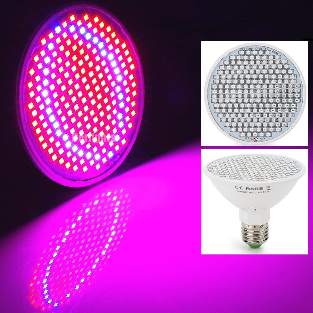 20W LED Plant Grow Light E27 AC85-265V SMD3528 166Red+34Blue For Flowering Plant and Hydroponics System For Indoor Grow Box 20w 30w 120w led plant grow panel light hydroponics lamps ac85 265v smd3528 for greenhouse flowering plant indoor grow box
