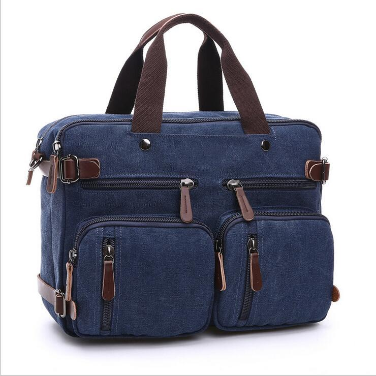 New men's high quality handbags  men messenger bags canvas Blue shoulder bag