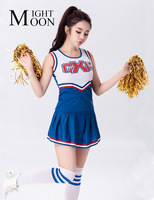MOONIGHT Il Nuovo Cheerleading Uniformi Giochi di Studenti Cheerleaders Abbigliamento All'ingrosso Top + Gonna