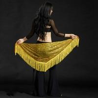 Nuovo Disegno di Danza Del Ventre Cintura, Lungo Sexy Danza Del Ventre Hip Sciarpa Scialli 9 Colors Professione Stage di Danza
