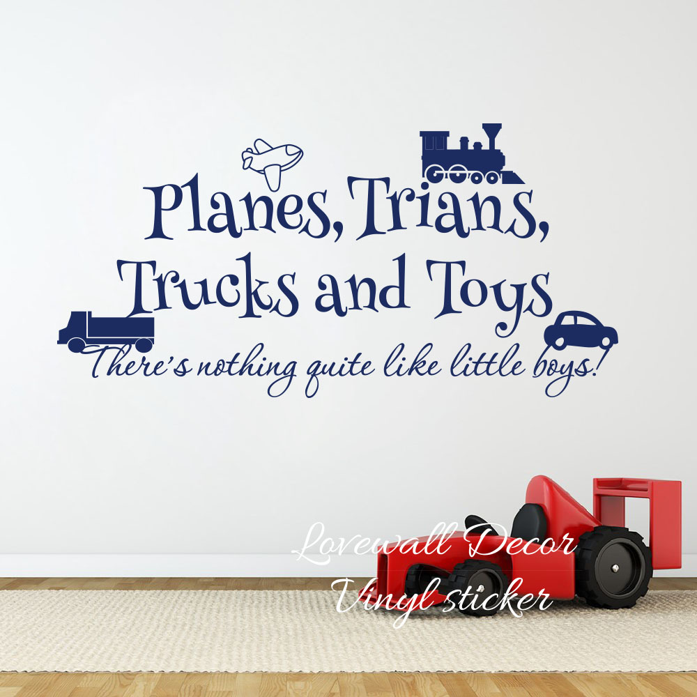 Home & Garden Home Décor Trucks And Toy Little Boys Quotes ...