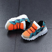 New Children Casual Shoes 2017 Autumn PU Leather Kids Sneakers Fashion Breathable Mesh Boys Girls Shoes High Quality