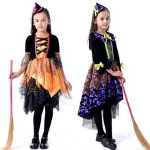 hot 2017 children adult vampire costumes halloween costume for kid long dress with hair band carnival - Band Halloween Costumes