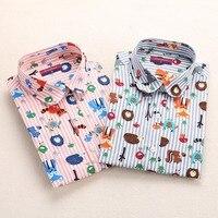 Dioufond Для женщин блузка Звезда печати Рубашка Блузка с длинными рукавами Повседневная хлопковая рубашка плюс Размеры рубашка женская одежд...