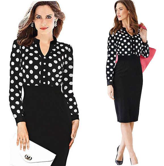 be9cc541dbc 2016 новое дизайнерское летнее женское платье плюс размер с высокой талией  волнистый точечный Стиль Платья До