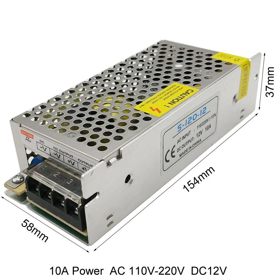 12V LED-transformatorströmförsörjningsströmbrytare Adapter AC - Belysningstillbehör - Foto 3