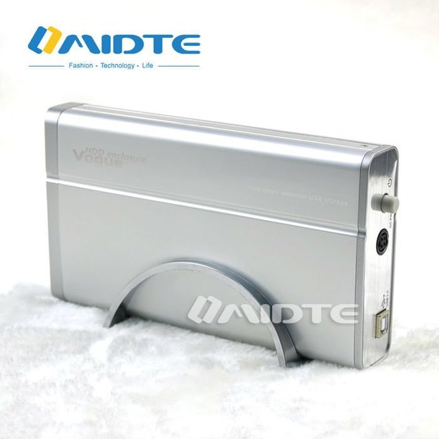 Midte High Quality Mac OS Portable USB2.0 3.5'' IDE HDD Cover Aluminum, HDD Enclosure with fast FREE SHIPPING by DHL EMS HKPAM