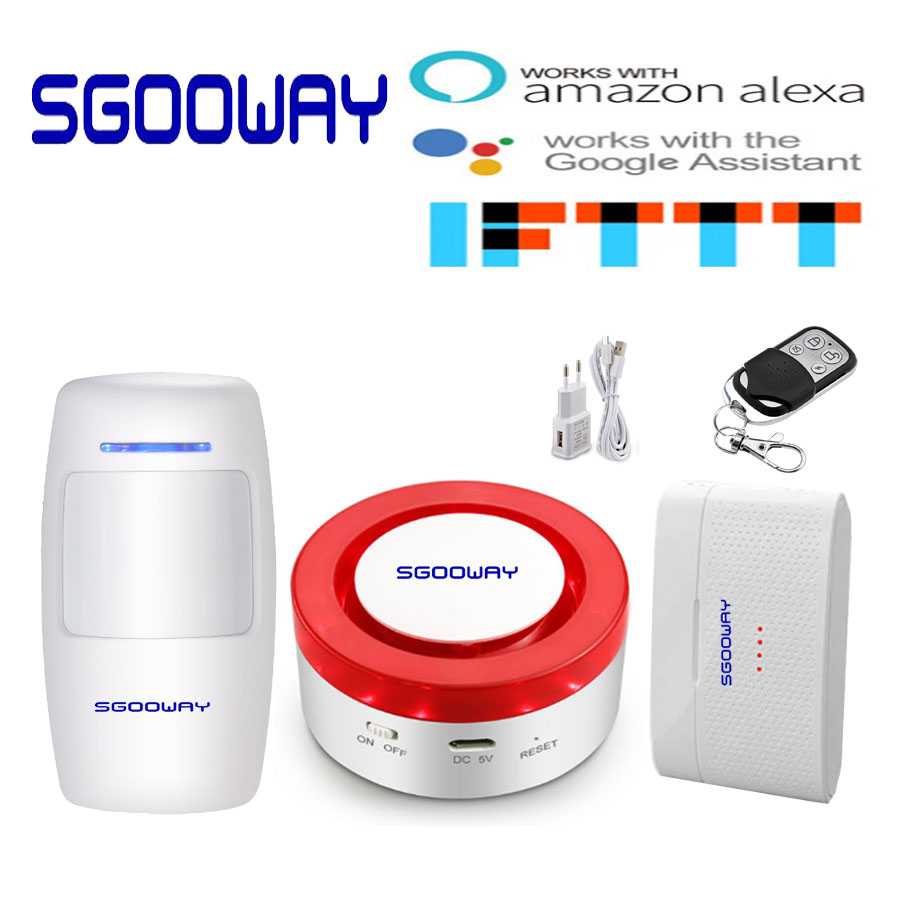 Smart WIFI Alarm System Siren Remote Alexa Google Home Voice Control Tuya Smart Life Home Kit