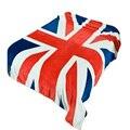 150*200 cm Multifunción Manta Cubierta de Sofá Sola Sábana Lanza Británica Bandera Americana A Cuadros de franela de lana