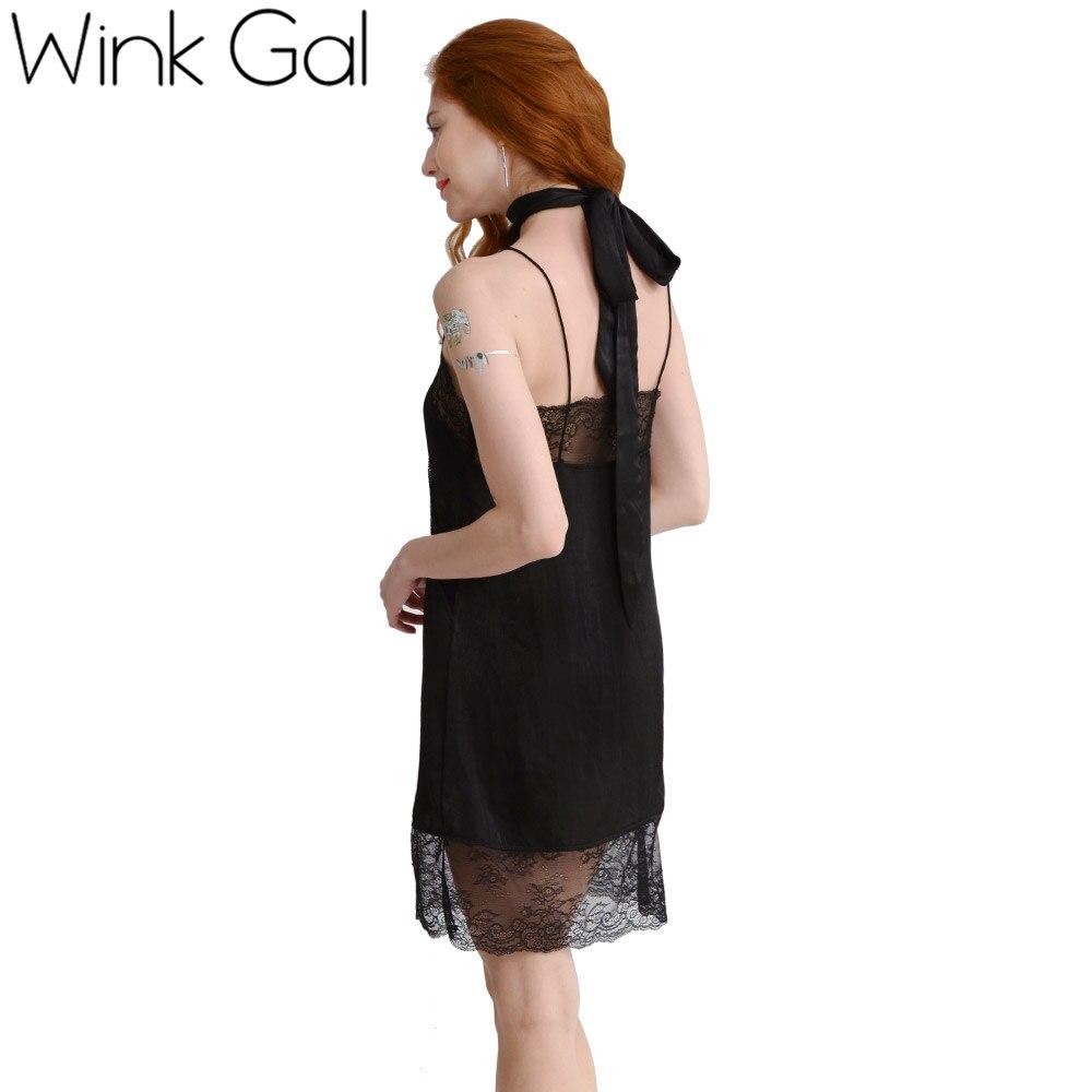 Wink gal sexy encaje negro vestidos de fiesta de noche corto ...