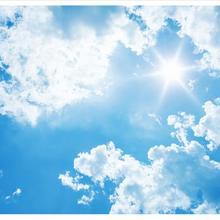 Custom photo wallpaper 3d ceiling wallpaper murals Hd 3 d white clouds blue sky sunlight ceiling zem
