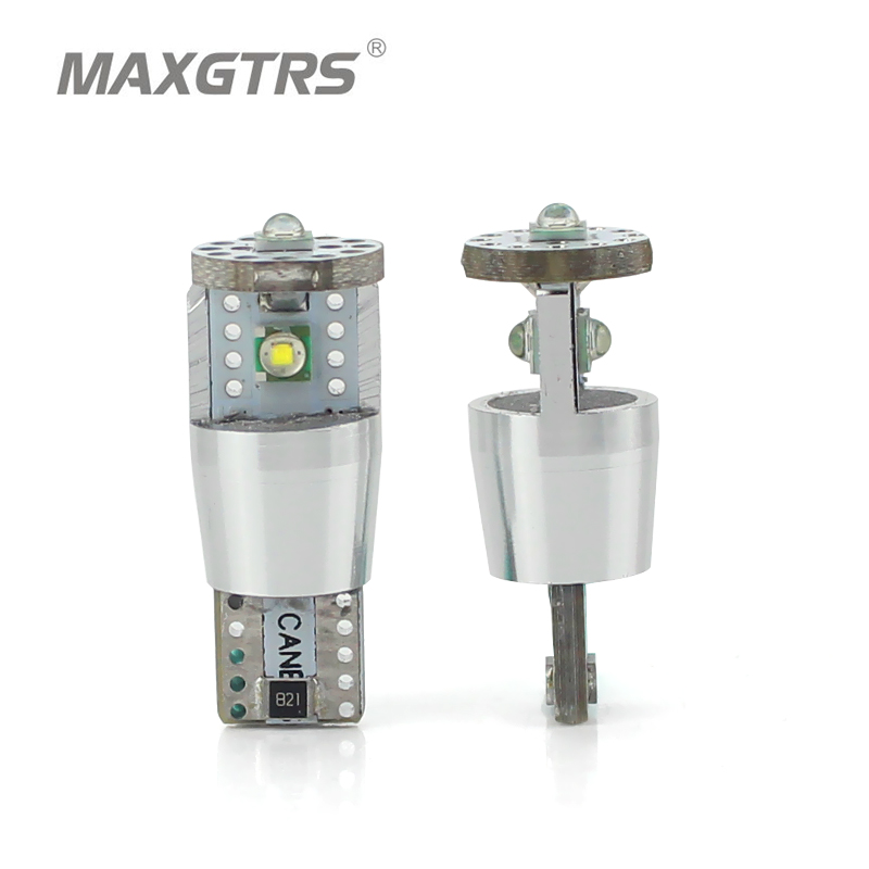 2Pcs T10 W5W 15W 1350lm High Power Cree Chip XP-E CANBUS NO ERROR White LED Upgrade DRL Backup Reverse Map Dome Light Sourcing