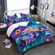 Купить с кэшбэком Kids Colorful Cartoon Bedding Set Dreamlike Virgo Constellation Duvet Cover Set Twin Full Queen King Bedding Girls Bedclothes