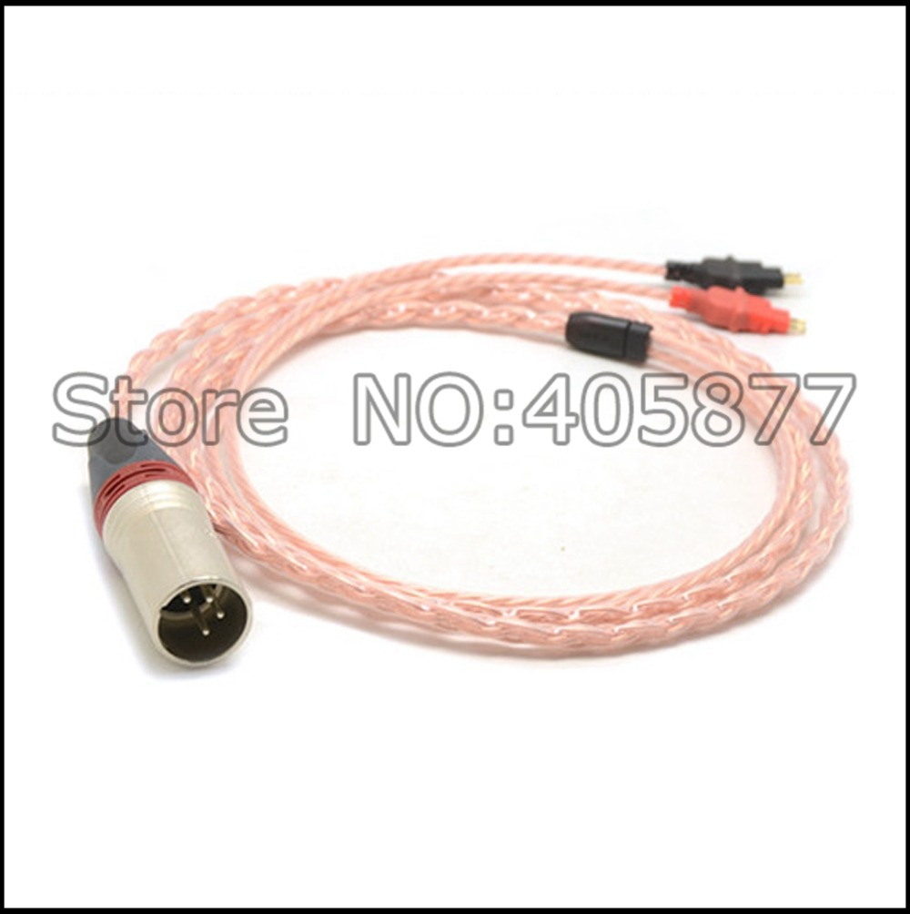 4pin XLR Male 5N pure copper Cable for HD700 Headphone Headset cable 5pcs lot pure copper broken groove memory mos radiator fin raspberry pi chip notebook radiator 14 14 4 0mm copper heatsink