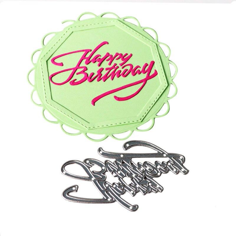 Angielski List Do Cięcia Metalu Die Szczęśliwy Urodziny Die Cięć