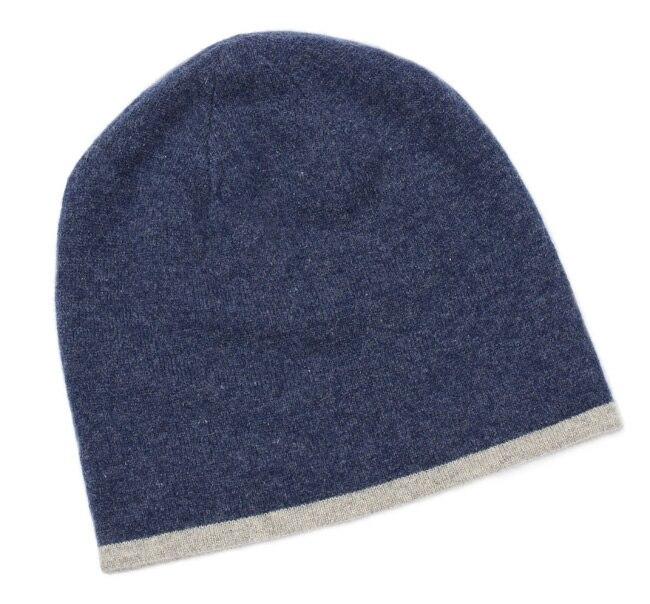 Automne et d'hiver cryptage à double-face cachemire loisirs grand chapeau hommes et femmes épais tricot chapeau solide couleur