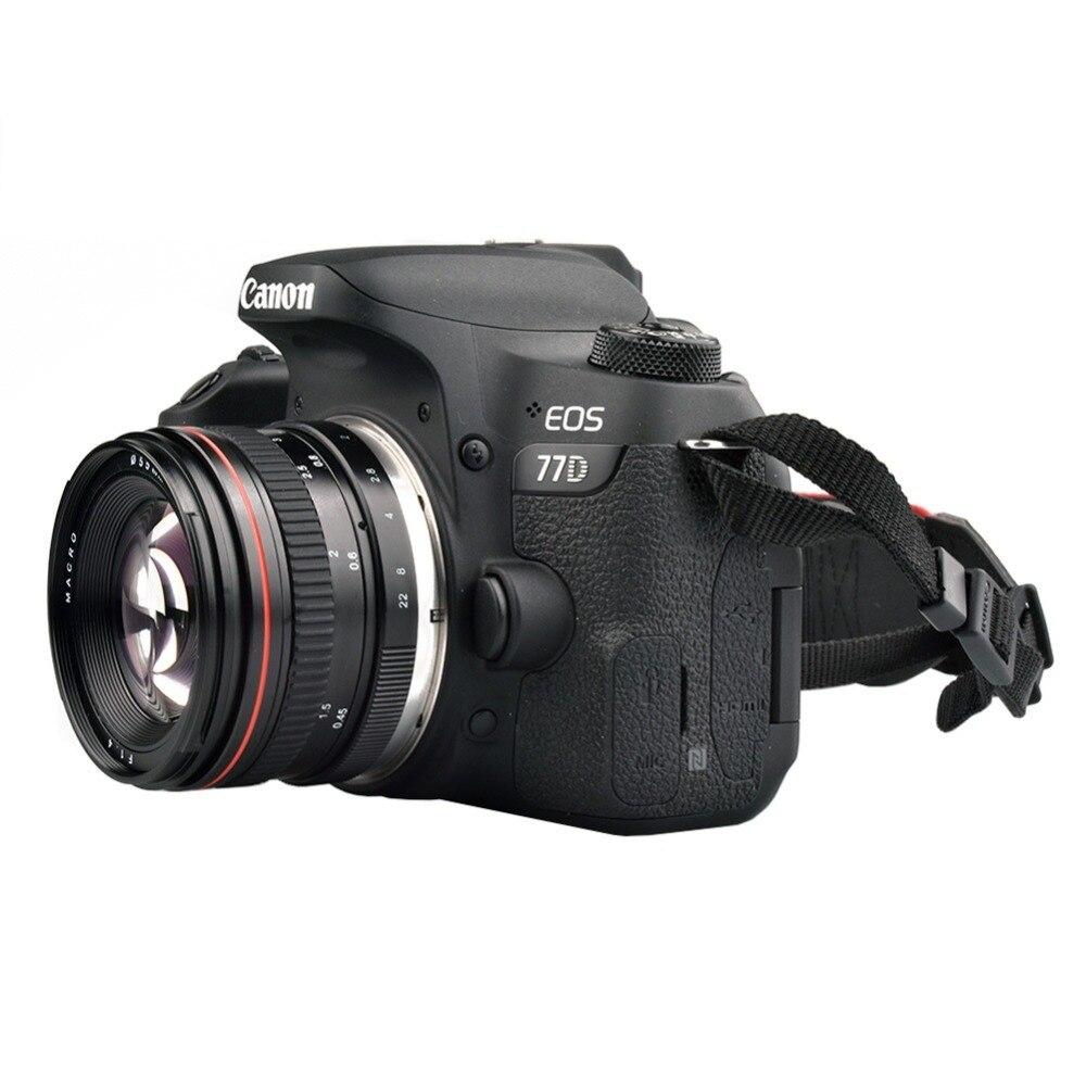 Objectif de caméra de mise au point manuelle de Portrait de grande ouverture de 50mm F1.4 pour les objectifs Canon 550D 760D 77D 80D 5D4 Nikon D5100 D7100 D810 D750