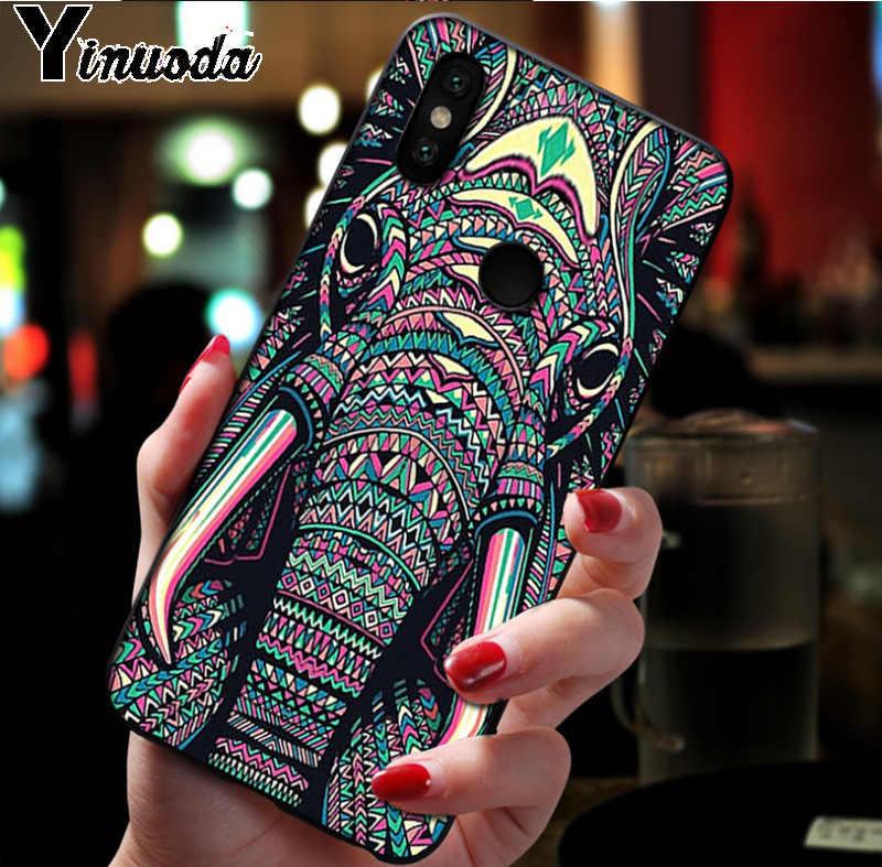 Ynuoda פיל בעלי החיים דפוס גומי tpu רך טלפון כיסוי מקרה עבור xiaomi mi 8 se 6 note2 note3 redmi 5 בתוספת note5 כיסוי