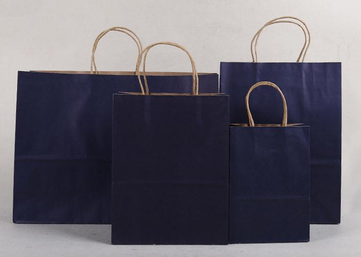 40x30x8cm/cheap small brown kraft paper  Festival Gift Bag Shopping Bags  Soft Color Paper Bag With Handles