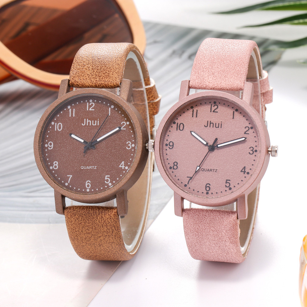 2019 Women's Casual Quartz Leather Band New Strap Watch Analog Wrist Watch Gift Dropship Lady Watch For Woman Reloj Mujer A7