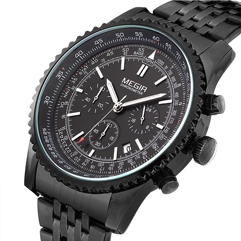 megir quartz sport chronograph luminous