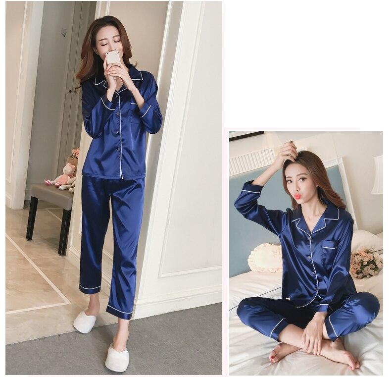 Silk Satin Pyjamas Set 16