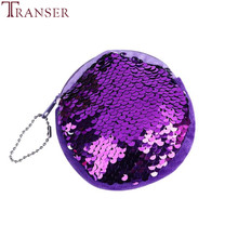 Transer Modetrender Unisex Girls Fashion Double Color Sequins Väska Coin Wallet Ladies Purse Pouch Drop Shipping Wu2