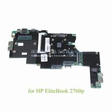 laptop motherboard for HP EliteBook 2760P 649747-001 I5-2540M QM67 GMA HD3000 DDR3