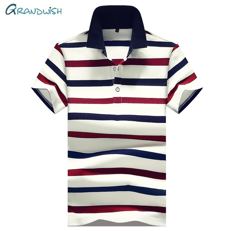 Grandwish Brand Casual Men   Polo   Shirts Summer Short Sleeve Breathable   Polos   High Quality Slim Fit Male   Polos   Clothing Tops,GA206