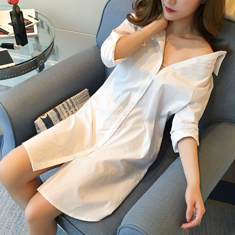 Women's Clothing Enthusiastic 2019 New Long Women White Shirts Loose Sexy Lady Eleagant Solid Blouse Plus Size Shirts Boy-friend Style Shirts Outwear Tops