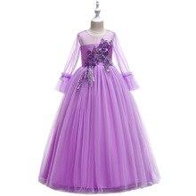 Новый цветок девочки платья для свадьбы Золушка девушки платье принцессы дети бальные платья Первое причастие