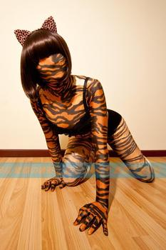 (MW8266) Mywayfashion Luxury Customize spandex tiger pattern zentai suit full body tights