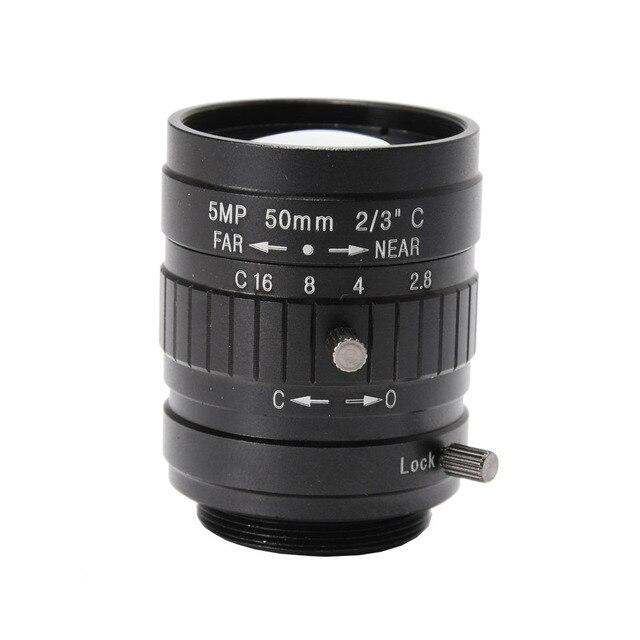 9aaf0199a7 5.0MP 50mm foco fijo Manual Zoom lente CCTV montaje CS lente para la cámara  de
