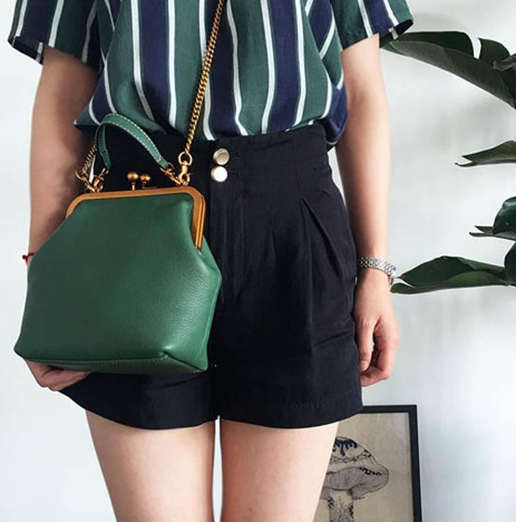 2019 new vintage bag women's handbags leather PU chain shoulder crossbody bags (2)