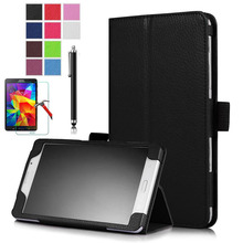 XSKEMP Magnet Leather Cover Case For Samsung Galaxy Tab 2 10.1 P5100 P5110 Tablet 9H Tempered Glass Screen Protector Stylus Pen