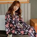 2016 Primavera y el Verano Japonés Sakura Kimono Femenino Lindo Conejo Pijamas Traje de Muebles Para El Hogar