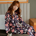 2016 Spring and Summer Japanese Kimono Female Cute Rabbit Pajamas Suit Home Furnishing Sakura