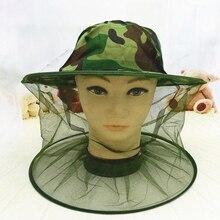 Камуфляж для пчеловодства шляпа пчеловода москитная пчела сетка вуаль полный лицо шеи крышка открытый москитная сетка Маска Защитная крышка