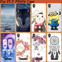 HOT Selling DIY Painted Case For Fly FS454 Nimbus 8 Soft TOU Silicone Patterns Cell Phone Cover For Fly Nimbus 8 FS454(China)