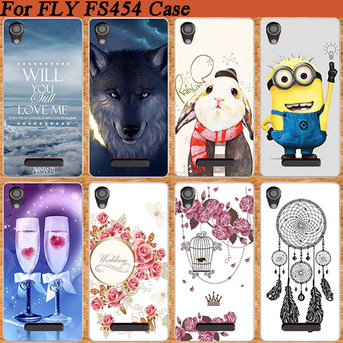 HOT Selling DIY Painted Case For Fly FS454 Nimbus 8 Soft TOU Silicone Patterns Cell Phone Cover For Fly Nimbus 8 FS454 image