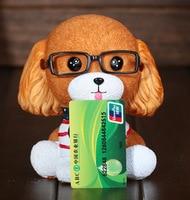 Sáng Tạo lớn kính puppy cửa hàng lon tiền Đồng Xu lon hàng thủ công Nhà Gái Món Quà Sinh Nhật Con Chó Con Heo Đất ngân hàng